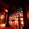 雨の小田原城下街 入口から