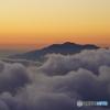 日の入り後の御嶽山