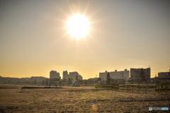 夕方の三浦海岸