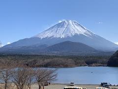 山散歩9 精進湖からの富士山