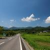 真田町 夏の青空 のどかな田舎道