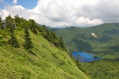 大沼池と裏志賀山