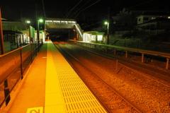 しなの鉄道の夜 (69)テクノさかき駅