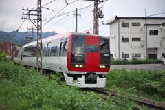 長野電鉄の特急  信州中野駅付近にて (2)