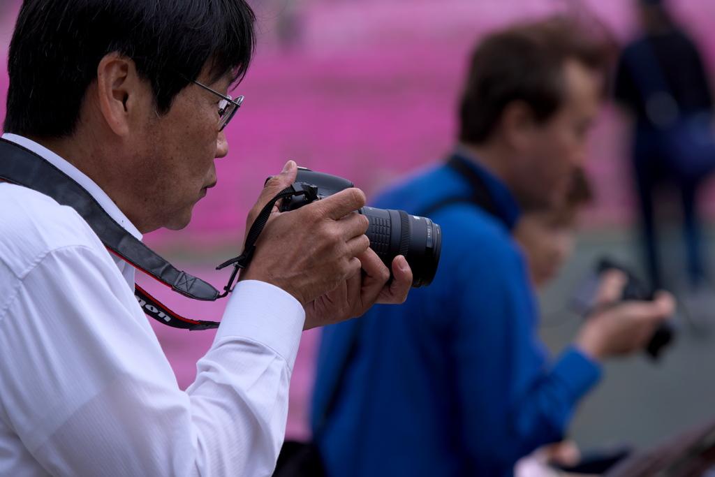 2019富士芝桜まつりにて 撮る人を撮る (5)