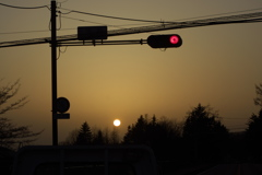 黄砂の夕刻