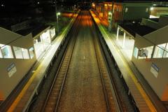 しなの鉄道の夜 (68)テクノさかき駅