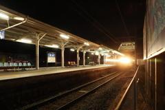 しなの鉄道の夜 (73)坂城駅