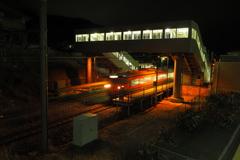 しなの鉄道の夜 (70)テクノさかき駅
