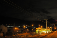 しなの鉄道の夜 Ende 坂城駅