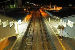 しなの鉄道の夜 (62)西上田駅