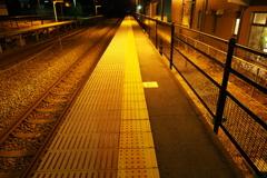 しなの鉄道の夜 (67)テクノさかき駅