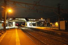 しなの鉄道の夜 (61)西上田駅