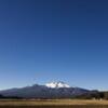 快晴の空に冠雪の浅間山
