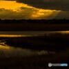 湖沼の夕景 ①