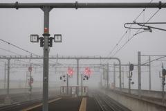 朝の福知山駅
