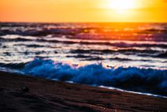 オレンジの波頭