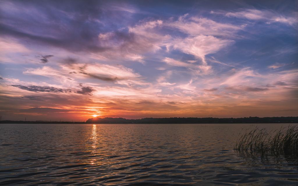西印旛沼夕景