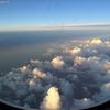 2019/06/14_機窓風景 朝日に照らされる雲