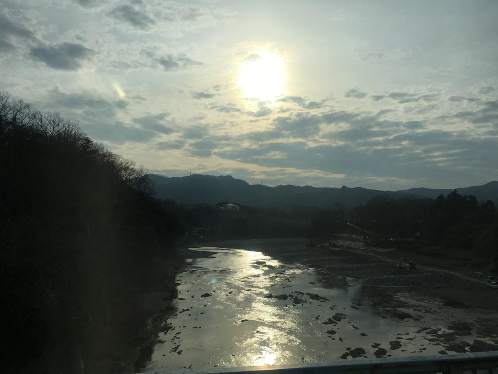 2020/02/29_イーグルバスから荒川を望む