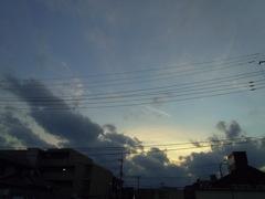 2016/11/26_夕空に飛行機雲