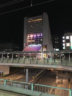 2020/01/29_中野駅から夜の中野サンプラザを望む