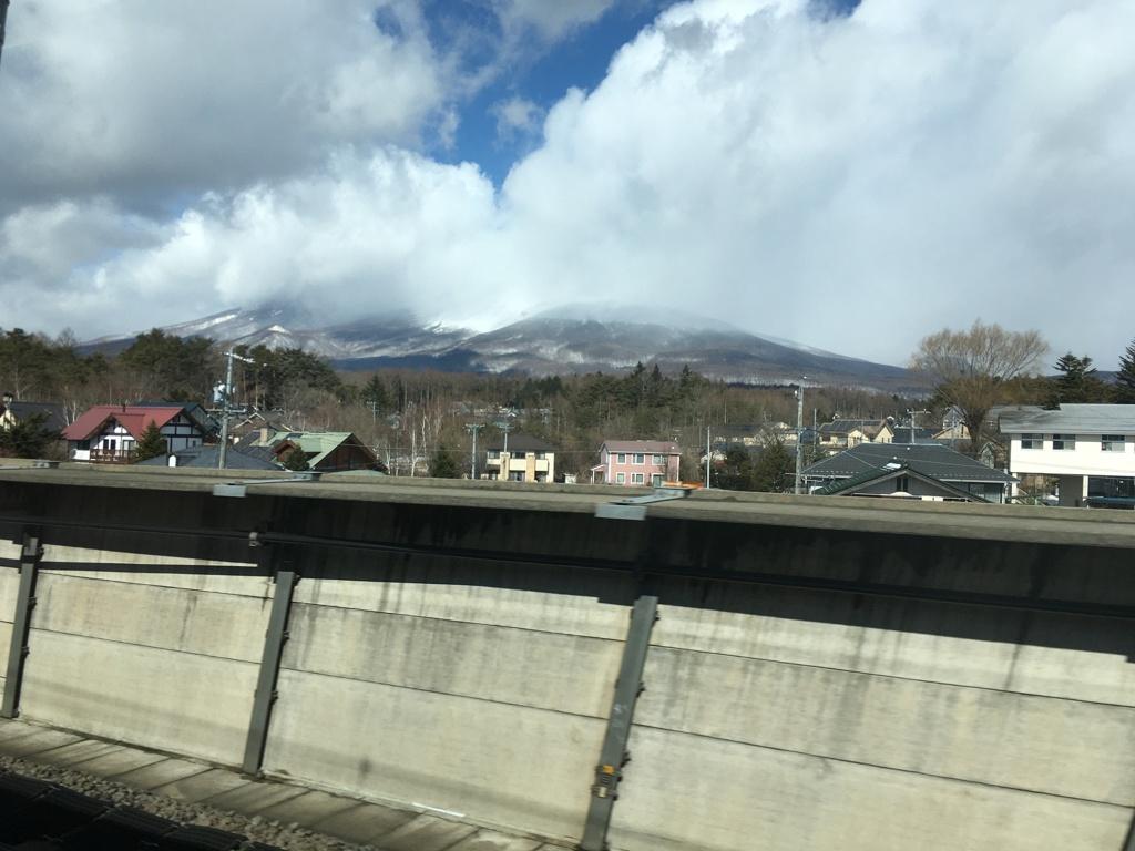 2020/02/18_北陸新幹線から浅間山を望む