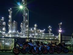 鹿嶋工業夜景