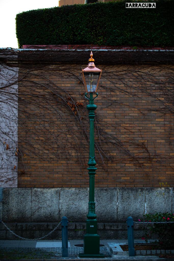 県庁脇の街灯(ガス灯)