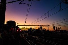 練馬駅の夕暮れ