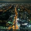 谷町筋(夜)