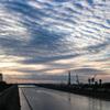 雲が波打つ 今朝の空
