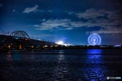 東京湾岸の夜景 新木場から葛西臨海公園