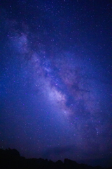 四国カルスト上空の天の川(星雲)③