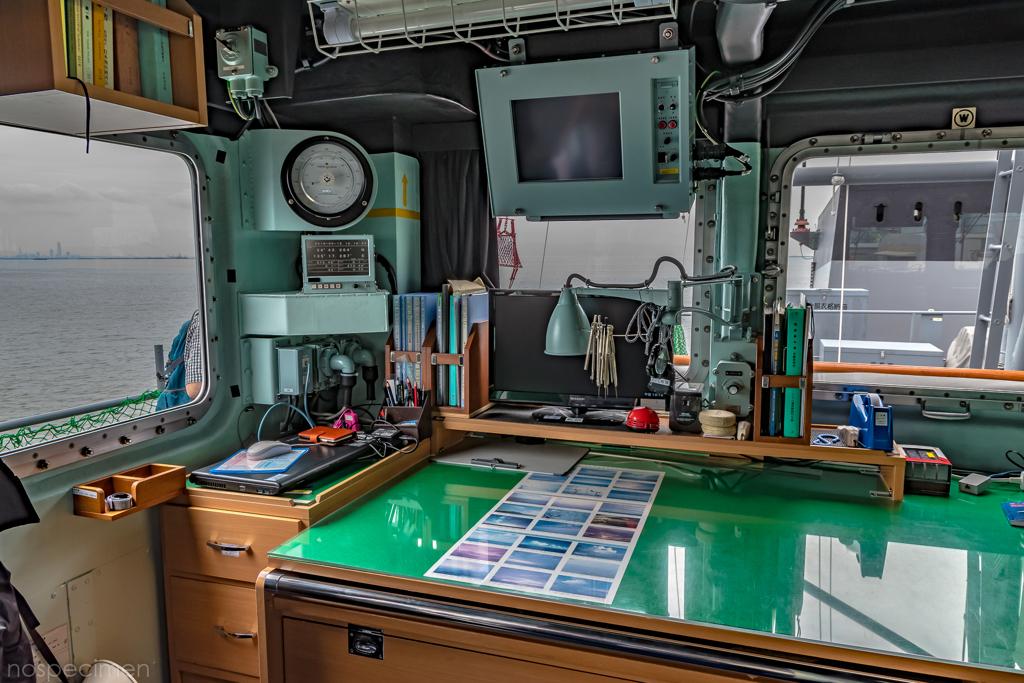えのしま型掃海艇 3番艇 MSC-606 はつしま ブリッジ 海図台