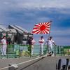 あさぎり型護衛艦 8番艦 DD-158 うみぎり 艦尾の中の人と自衛艦旗