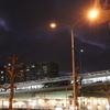 光明池駅前とリムジンバス