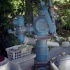 平野 全興寺のポンプ式井戸