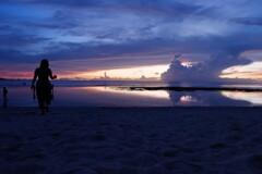 グアムビーチ夕焼け1