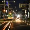 夜の高知駅前