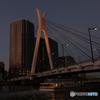 中央大橋 黄昏時 橙色
