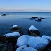 ベタ凪のオホーツク海