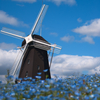 Windmill hill: Blue dyed