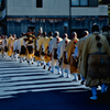 Monks march