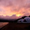 キャンプ場の夕焼