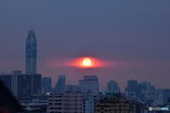 バンコクの夕陽