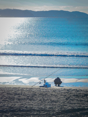 江ノ島の釣り人