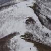 残雪の尾根