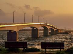 夕映えの橋