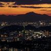 夕景  下関と北九州